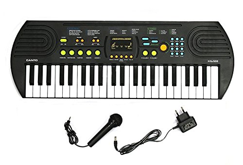 SUPER TOYS Canto 44 Keys Piano With Recording, Microphone And Adaptor