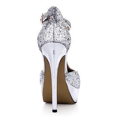 LvYuan Da donna-Sandali-Matrimonio Formale Serata e festa-Comoda-A stiletto-Sintetico-Argento Silver