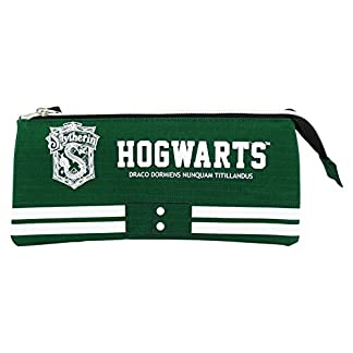 Harry Potter Slytherin Estuche Portatodo con 3 Cremalleras Escolar Làpices de colores Necesser