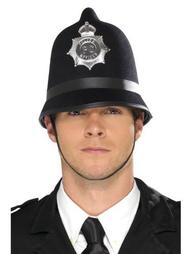 British Officer Police Kostüm - Mens Adult British Bobby English Policeman Police Officer Helmet Hat Fancy Dress by Star55