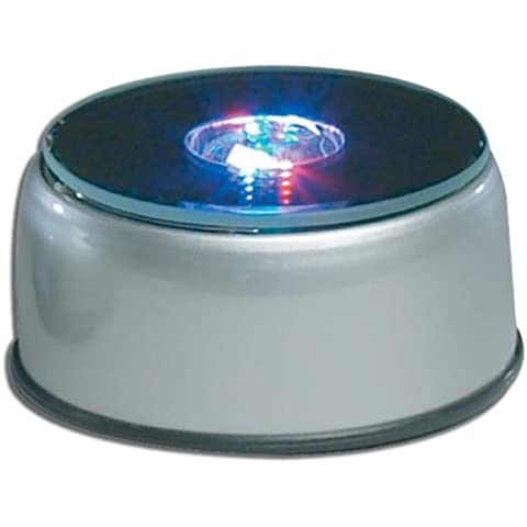 Grabados con Láser Crystal Cube Light Up LED en la base 4, con adaptador