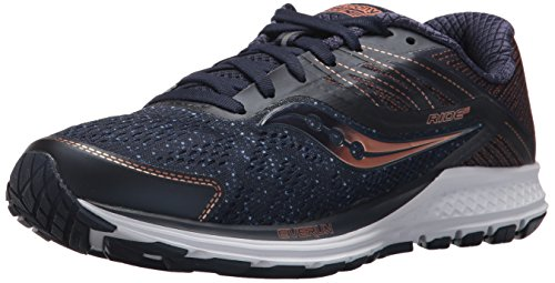 Saucony Ride 10, Scarpe Running Donna, Blu (Navy/Denim/Copper 000), 41 EU
