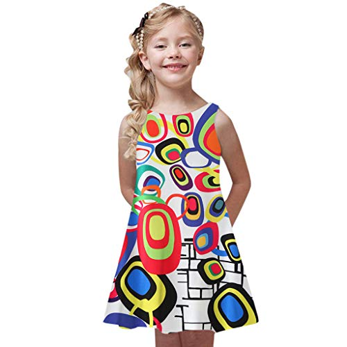 Mädchen Kleid Regenbogen Smok Halfter (Kommunion Muster Für Kleider)