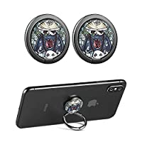 CHOELF Phone Ring Holder, 2 Pack Phone Finger Grip 360° Rotation Finger Ring Stand Universal Metal Kickstand for Mobile Phones iPhone Samsung Galaxy HUAWEI Sony Tablet and more Smartphones- Panda