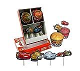 Disney Cars große Etagere/Tortenständer mit Muffinförmchen und Muffinsticker, ideal zum...