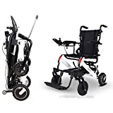JOSN Electric wheelchair folding smart small portable lightweight scooter elderly disabled help car 20.5 KG, can drive 15 km