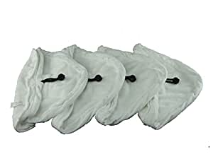 Ufixt® 4 X Steam Mop Microfibre Cleaning Cloth Cover Pads Kit Fits Vida and Vileda Universal