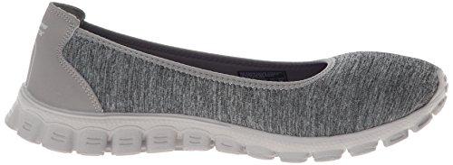 Skechers Ez Flex 2 Roll With Il Womens Slip On Sneakers Flat Ballet gray