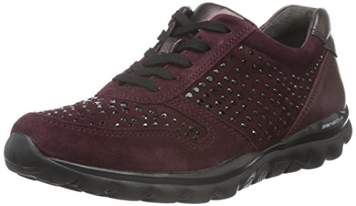 Gabor Shoes Rollingsoft, Sneakers Donna Rosso (New Merlot 48)