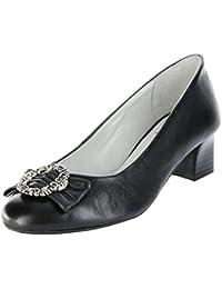 Bergheimer Trachtenschuhe Trachten Pumps schwarz Glattleder Damen Schuhe Rosi