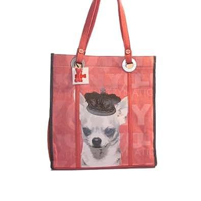 Fuzzy Nation Sac à main/sac à langer Motif Chihuahua