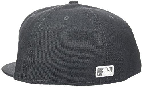 New Era Erwachsene Baseball Cap Mütze MLB Basic NY Yankees 59 Fifty Fitted Graphite/White