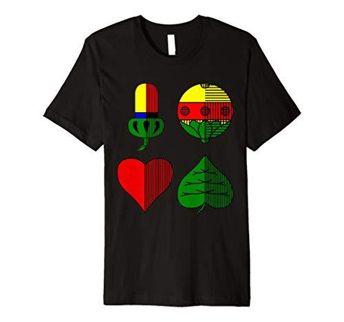 Deutsches Kartenblatt Spielkarten Alle Vier Farben T-Shirt