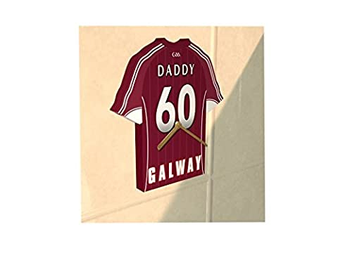 GAA SPORTS IRELAND - GAELIC FOOTBALL SHIRT CLOCK - ANY NAME, ANY NUMBER & ANY TEAM - THE CHOICE IS YOURS!!! (Galway Gaelic Football Jersey)