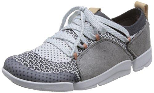 (Clarks Damen Tri Amelia Sneaker, Grau (Grey Combi), 40 EU)