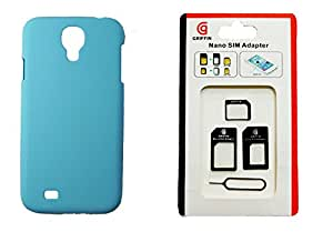 Toppings Hard Case Cover With Sim Adapter For Samsung Galaxy S4 - Skyblue