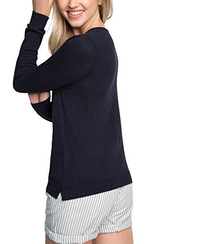 edc by Esprit Basic Mit V-Ausschnitt, Pull Femme Bleu (NAVY 400)