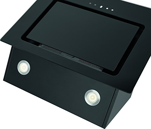 Bomann DU 771 G Kopffreie Vertikal-Dunstabzugshaube, A, 60 cm, LED-Display, LED-Beleuchtung -