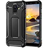 Coolden Samsung Galaxy A6 2018 Case, Premium [Armor Series] Outdoor Shockproof Protective Case Tough Silicone + Hard Bumper 4 Air Cushion Corners Military Standard Mobile Phone Case for Samsung Galaxy A6 2018