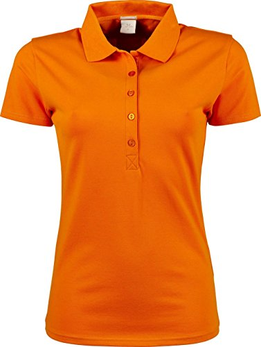 Ladies Luxury stretch Polo Orange - Mandarin