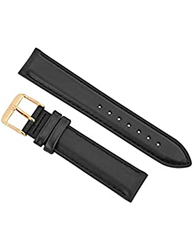Daniel Wellington Unisex Classy Sheffield Uhrenarmband Lederbänder Leder schwarz DW00200076