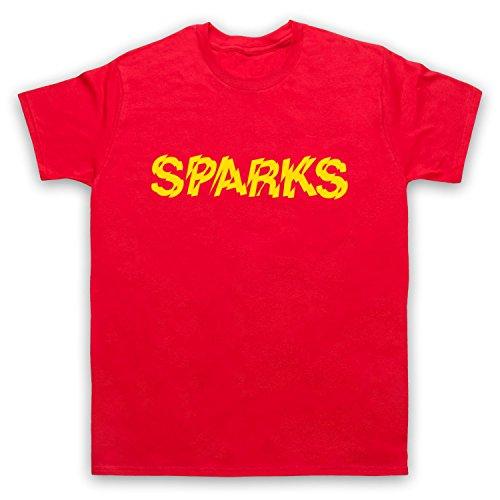 Inspiriert durch Sparks Logo Unofficial Herren T-Shirt Rot