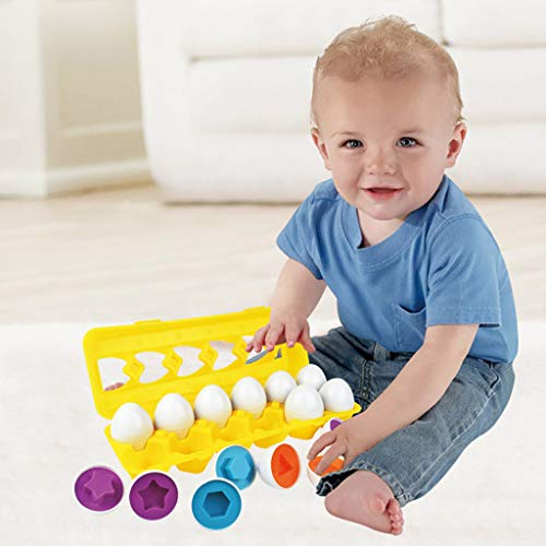 Mitlfuny Kawaii Langsam Dekompression Creme Duftenden Groß Squishy Spielzeug Squeeze Spielzeug,Color & Shape Sorter Passendes Ei Set Pädagogisches Lernspielzeug Kinder Geschenk 12 stücke (Tundra Lift-kits Für)