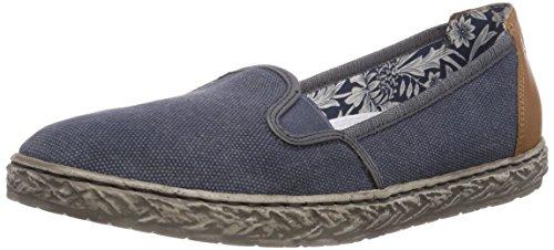 Rieker L9750 Damen Slipper Blau (denim/jeans/jeans/nuss / 15)