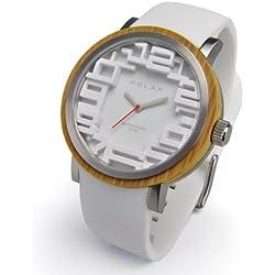 Relax Batterie Armbanduhr Analog Weiß Herren