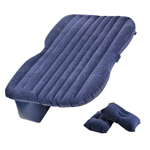 Sailnovo materasso aria auto, letto gonfiabile auto, per esterno casa campeggio auto, con borsetta, pompa per gonfiare, cuscini, ecc (mare blu)