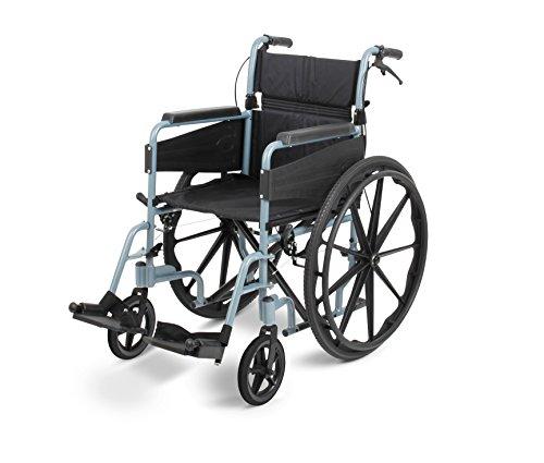 Days Escape Lite Rollstuhl, selbstfahrend Standard, silber blau