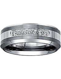 ffa4b0130e4b Tungsten Carbide Diamond Mens Wedding Band .20CTW (H-I I2)