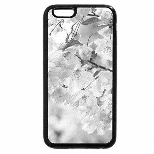 iPhone 6S Plus Case, iPhone 6 Plus Case (Black & White) - Pink Cherry Blossom