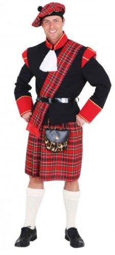 Erwachsenen Kostüme Schotte (Faschingskostüm Herren Schotte Gr.)