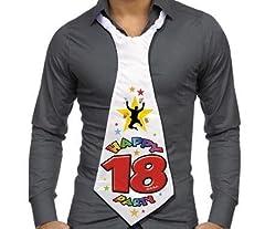 Idea Regalo - Dream' s Party Cravatta CRAVATTONE Party 18 Anni - Buon COMPLEANNO - gadget idea scherzo divertente per feste, 18° compleanno ecc. per il neo maggiorenne
