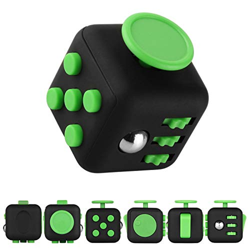 feifanshop Fidget Cube Toy Anxiety Stress Relief Calming Toy Focus,  Relaxation, Distraction & Improved Mood - Aids Depression, Worry Fear  Autism,