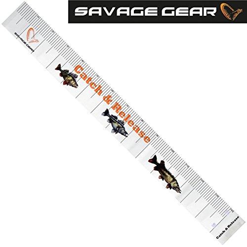 Savage Gear Trophy Measure Tape 140cm Maßband Zum Fische messen, Fischmaßband (Fisch Messen)