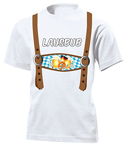 love-all-my-shirts Lederhosen Optik - Lausbub 5843 Kinder T-Shirt (K) Gr.140