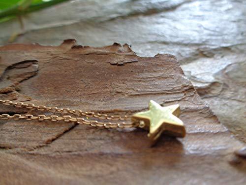 ✿ DICKER GOLD STERN ✿ wunderbare, zarte Kette