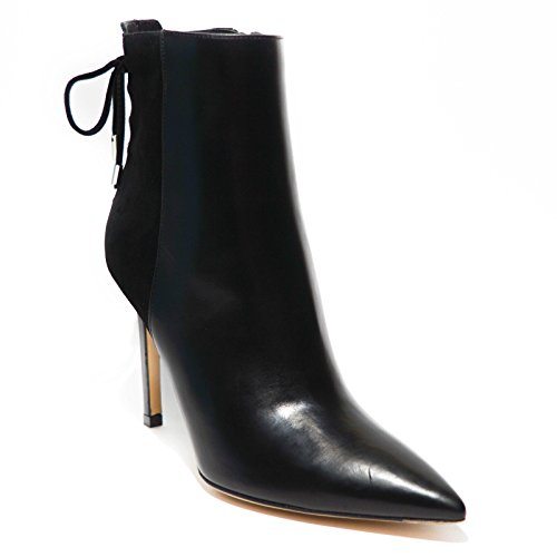 Roberto Festa Milano Stivaletto donna pelle nero tacco made in italy art.1009...