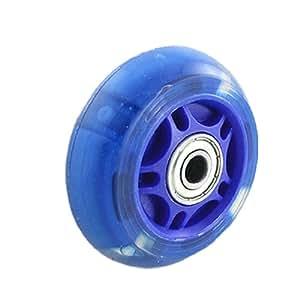 Clignotant LED Bleu Transparent Rouleau de roue pour skateboard