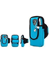 XYQY Impermeable Universal Correr Gym Sport Armband Funda de Teléfono Móvil Brazo Bolsa Titular de la Bolsa para Smartphone En ManoRoyal Blue