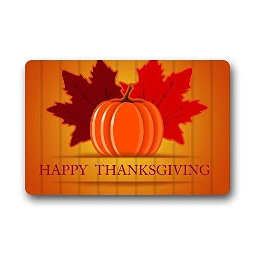 Vidmkeo Hi,Doormat Happy Halloween Pumpkin Non-Slip Rubber Door Mat Floor Doormats 31.5x19.5Inch