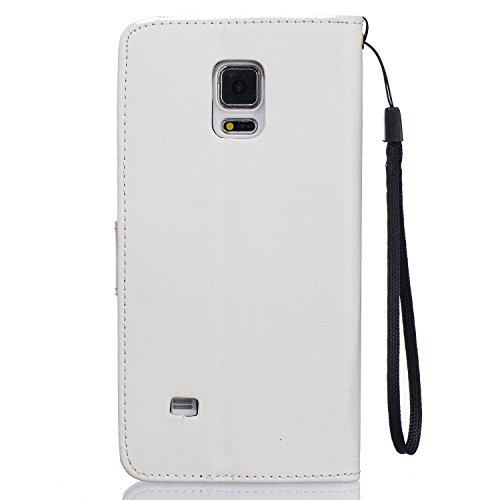 Guran® PU Leder Tasche Etui für iPhone 7 (4.7 Zoll) Smartphone Flip Cover Stand Hülle und Karte Slot Case-schwarz weiß