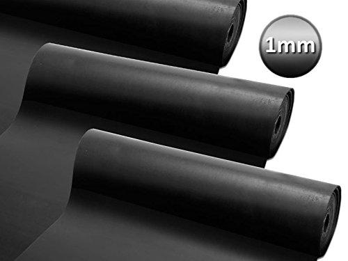 Gummiplatte NR/SBR | Stärke: 1mm Vollgummi | Gummimatte für Dichtung, Isolation, Bodenbelag etc. | 12 Größen wählbar | 120x83cm