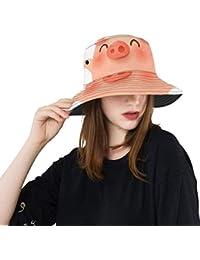 Año Nuevo Chino Cerdo Nuevo Verano Algodón Unisex Moda Pesca Sol Bucket  Sombreros para niños 31b5e9404f3