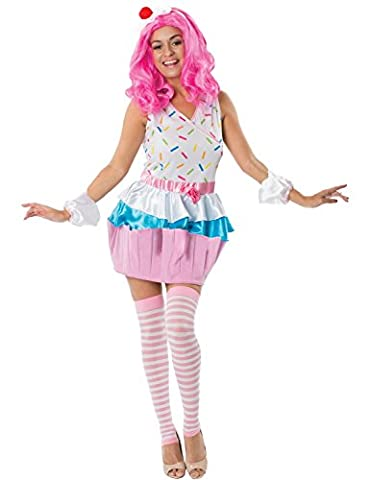 Adult Birthday Girl Cupcake Fancy Dress Party Dance Costume Large