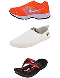 Jabra Perfect Combo Pack Of 2 Shoes- Sneakers And Loafers & Slippers For Men In Various Sizes - B06XVK1JY3
