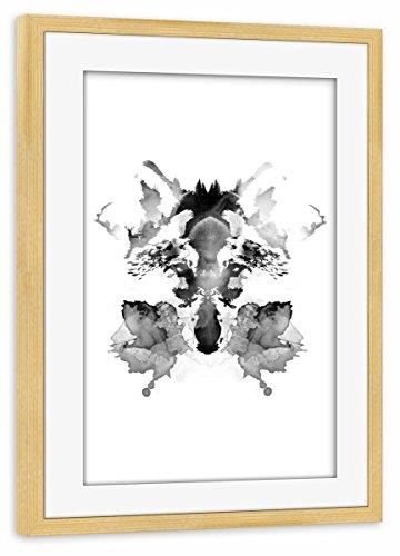 Mit Morphsuits Kostüm - artboxONE Poster mit Rahmen Kiefer 30x20 cm Rorschach von Robert Farkas - gerahmtes Poster