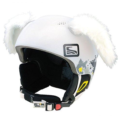 Crazy Ears Helm-Accessoires Hase Hund Ohren Ski-Ohren Tierohren, CrazyEars:Weiße Hasen Ohren